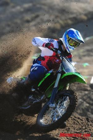 Rail the outside or point-and-shoot, the KX250F is equally adept.