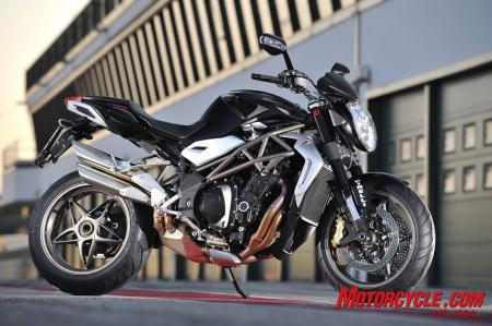 At first glance, the 2010 MV Agusta Brutale 990R looks like the 989, but look closer for details like the new, taller mirrors.