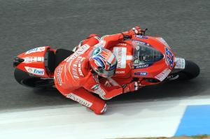 Casey Stoner showed no sign of the health problems that plagued him the last few months.