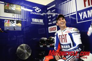Jorge Lorenzo was probably not this cheerful after the Phillip Island race.