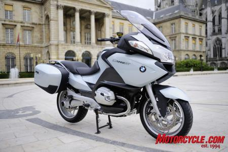 The BMW R1200RT luxury tourer receives updates to its engine and audio system.