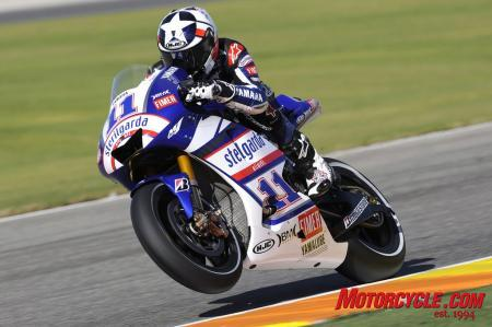 By beating Andrea Dovizioso, Ben Spies put himself into the good books of his new teammate Colin Edwards.