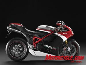 The special edition 2010 Ducati 1198R Corse.