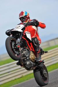 You can't help but be a wheelie God on the either Hypermotard EVO.