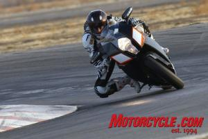 The RC8R turns in with an eagerness not found in any other 1200cc motorcycle.