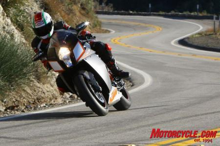 The RC8R lives for twisty canyon roads.
