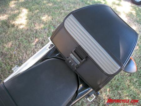 Storage is always an issue on a motorcycle, but this Yamaha accessory tail bag adds real convenience.
