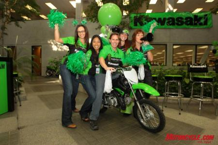 The Team Green spirit gathered together for a 2010 team introduction rally last Friday at the corporate offices in Irvine, California.