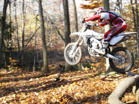 The Yamaha chassis and suspension work well for serious woods racing. With stock EFI settings, the engine does not.