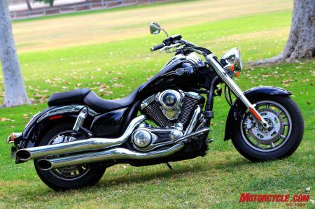 Kawasaki Vulcan 1700 Classic. For 2010 the V17 will come in a blue and black two-tone color scheme.
