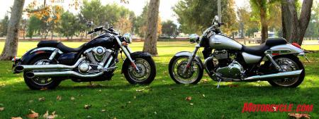 Two interpretations of a cruiser. For some riders, choosing between them could simply be a matter of taste.