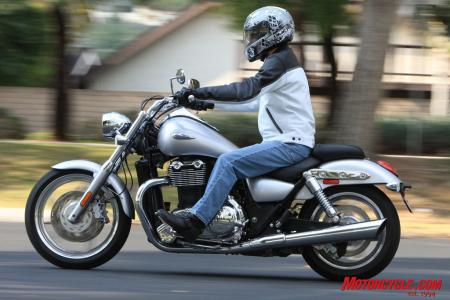The Thunderbird's quick-for-a-cruiser handling and revvy engine may appeal more to the sport riding set. The Triumph is also well suited for slow-speed posing but isn't quite as plush a ride as the Vulcan.
