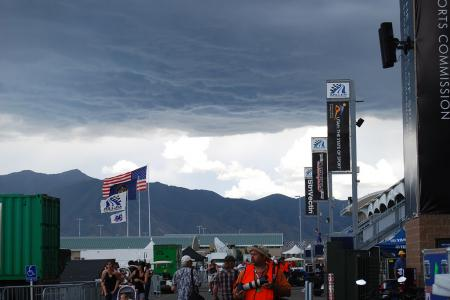 Nasty, dark storm clouds loomed over Miller Motorsports Park in Utah during the U.S. round of WSBK. Who woulda thunk this image would turn out to be a good representation of the rest of '09 in the motorcycle industry.