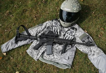 No, Icon Operator gear does not come with an M4, but the gear's styling borrows heavily from U.S. Army equipment. (Photo by Holly Marcus)