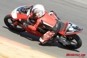 Current 125 GP racer Daytona Anderson tearing it up on the four-stroke Moriwaki. This 12-year-old rips!