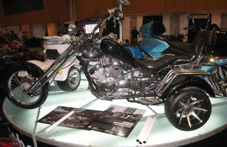 Although this Chinese-made trike powered by a 250cc V-Twin is undoubtedly interesting, it somehow failed to break into our top-10 list from the Indy Dealer Expo.