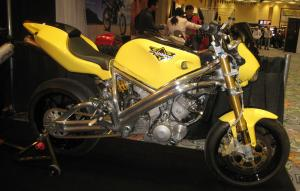 This is the Spondon-framed Viking powered by a 950cc V-Twin and said to weigh just 318 pounds!