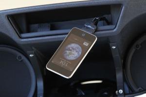 The ease of use from a simple iPod connection is a virtually trouble-free way to enjoy tunes on the road, but we'd prefer the iPod compartment come with a protective door as standard.
