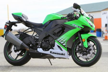 The Kawasaki ZX-10R gets an updated appearance and subtle other tweaks for the 2010 model year.