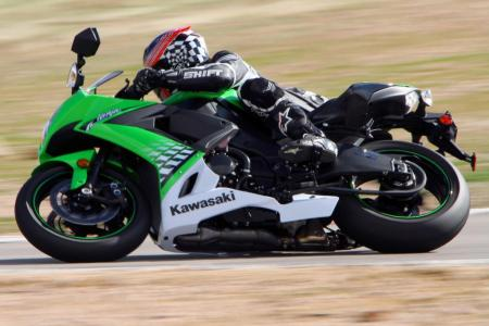 Pete leans the Special Edition ZX-10R into a right-hander.