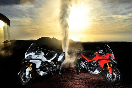 The versatile new Multistrada 1200 was launched on the Canary Island of Lanzarote.