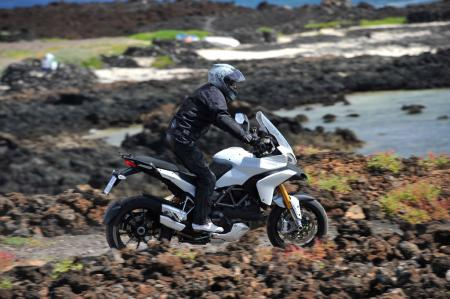 The Multistrada has off-road pretentions, but it's no BMW GS. Still, it has the capability to take on light-duty riding off the pavement.