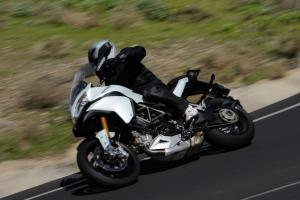 With what is likely more than 130 horsepower at the rear wheel, the Multistrada 1200 is a major-league road burner.