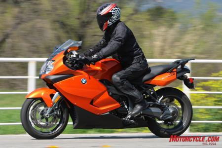 BMW�s K1300S has a comfortably sporty riding position.