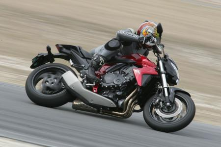 CB1000R steers quickly around a racetrack; a tad twitchy but competent and capable at nine-tenths.