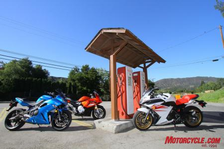 Hanging out at the Rock Store, these bikes are ready to keep going.