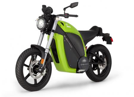 Electric Motorcycles Front 3Q Green