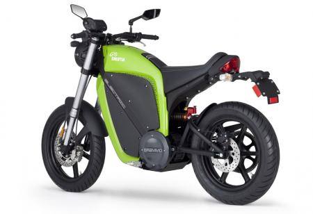 Electric Motorcycles Rear 3Q Green