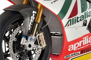 Ohlins suspension, Brembo brakes, Pirelli tires and Marchesini forged magnesium alloy wheels contribute to the $64,000 price tag.