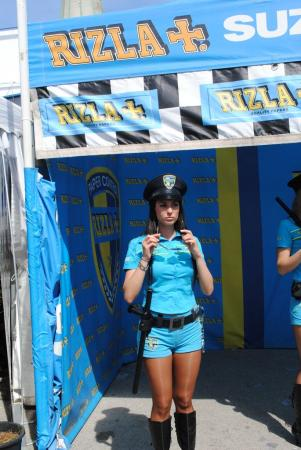 No MotoGP experience is complete without a Rizla Suzuki girl.