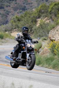 The Roadster cuts up canyon roads surprisingly well for a cruiser-style motorcycle tipping the scales at over 800 lbs.