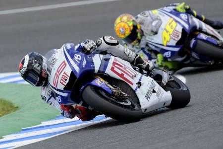 Jorge Lorenzo is on a roll, winning his second consecutive race to lead the MotoGP Championship by nine points over Valentino Rossi.