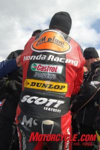 This is John McGuinness, in case the leathers didn't give it away.