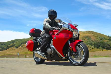 This standard VFR1200F has almost every accessory, including the 0.8� lower and slightly narrower saddle and adjustable windshield deflector. The bags were designed in a wind tunnel, and while unladen, they did not adversely affect handling.
