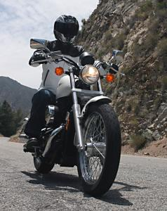 The Shadow RS's suspension offers more ground clearance and a cushier ride on rough pavement than the 883 Low.