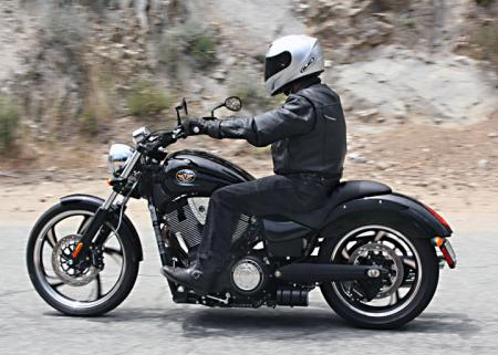 The 8 Ball is for the lone wolf rider�there are no passenger foot pegs and it has a solo saddle.