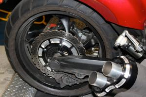 JPD billet rear brake rotor cover and exhaust tips.