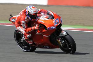 Casey Stoner started slow but fought hard to challenge for the final podium spot.