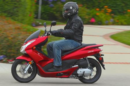 Modern flowing lines give the PCX an up-to-date appearance.