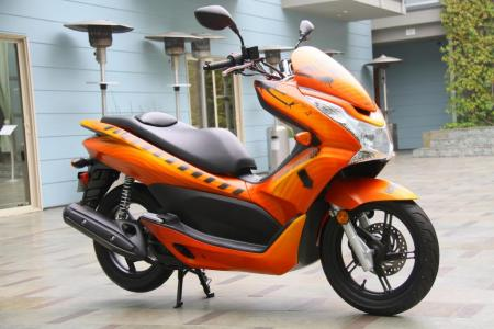 Aiming at youthful buyers, the contemporary-looking PCX 125 will be on tour this summer.