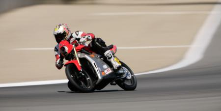 A hotrodded Native S doing laps at Laguna Seca. (Photo courtesy of Native Cycles.)