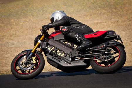 No cast-alloy kickstand is on this one-off, as can be found on the Enertia, but plenty of Brammo-branded and other high-quality pieces adorn Brammo�s first sportbike.