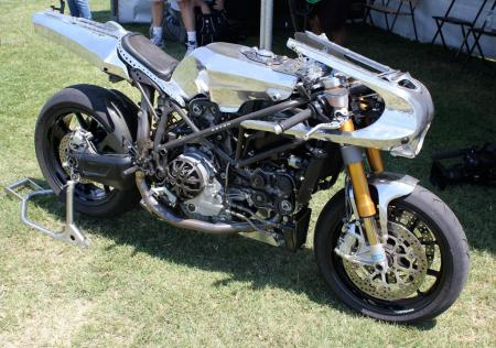 Bored with your 2007 Ducati 999, and bolt-on accessories just aren't enough? Call Shinya Kimura of Chabott Engineering in Azusa, Calif. As his customer Brad Pitt has already, you may appreciate his handiwork as demonstrated by this estimated $60-70,000 machine.