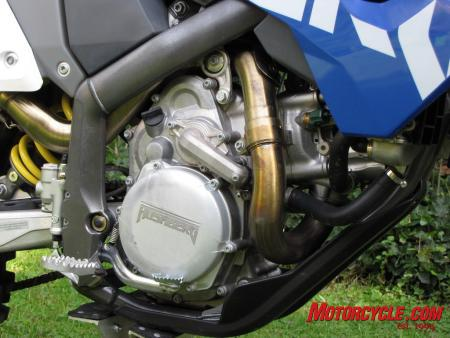 Shake it up. The Husaberg engineers juggled a bunch of KTM parts and came up with a whole new engine.