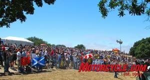 A large crowd gathered at the Corkscrew for the Red Bull U.S. GP.