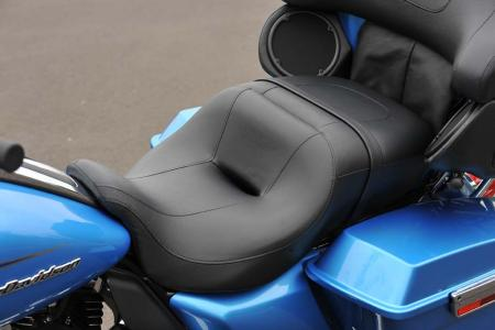 All the 2011 baggers have new seats that have narrowed front sections, making it easier to plant both feet on the pavement at stops.